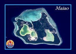 French Polynesia Maiao Island Satellite View New Postcard - Polinesia Francese