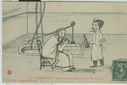BOURBON LANCY / Malade Sortant D'un Bain Et Buvant L'Eau Thermale,1909, - Francia