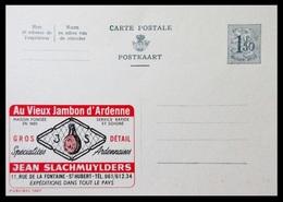 BELGIQUE ENTIER CP PUBLIBEL N° 1607. AU VIEUX JAMBON D'ARDENNES . JEAN SLACHMUYLDERS  . NEUF - Stamped Stationery