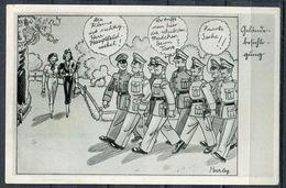 """CPSM S/w Barlog Signierte Ak German Empires,DR Soldaten Humor 1941""""Gelände Besichtigung""""Feldpost  """"1 AK Used - Deutschland"""