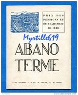 Italie Abano Terme - Prix Des Pensions Et Du Traitement + Carte De La Région - 1966 - Ecrit En Français - Italie
