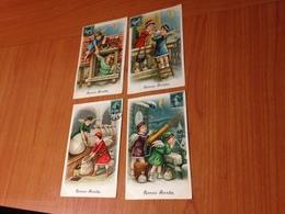 BONNE ANNEE -  Theme Ange- 4 Cartes Gaufrées (port à Ma Charge ) - Anno Nuovo