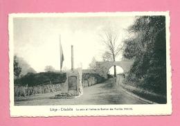 C.P. Liège  =  Citadelle  : La STELE Et  L'  Entrée  Du  BASTION Des  FUSILLES  1940-1945 - Liege