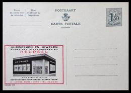 BELGIQUE ENTIER CP PUBLIBEL N° 1530. HEURSEL. UURWERKEN EN JUWELEN   . NEUF - Stamped Stationery