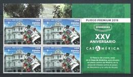 ESPAÑA 2019 ** 5334 XXV ANIVERSARIO CASA AMERICA BL.4 - 2011-... Nuevos & Fijasellos