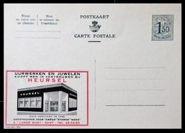 BELGIQUE ENTIER CP PUBLIBEL N° 1612 . HEURSEL. UURWERKEN EN JUWELEN   . NEUF - Stamped Stationery