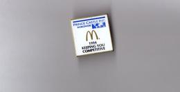 Pin's Mac Donald's - McDonald's / Prince Castle INC Worldwide - 1994 Keeping You Competitive (hauteur: 2,5 Cm) - McDonald's