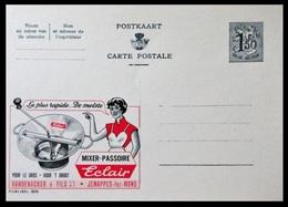 BELGIQUE ENTIER CP PUBLIBEL N° 1575. ECLAIR . MIXOIR - PASSOIRE . VANDENACKER & Fils . JEMAPPES-lez-MONS    . NEUF - Stamped Stationery