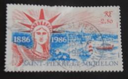 """SAINT PIERRE ET MIQUELON  YT 471 CAD 19-12-1986 """"STATUE DE LA LIBERTÉ"""" - St.Pierre & Miquelon"""