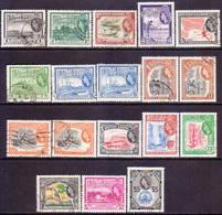 BRITISH GUIANA 1954-56 SG 331-45 Compl.set W/many Vars Used CV £50+ - British Guiana (...-1966)
