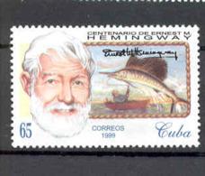 Cuba 1999 Ernest Hemingway (1899-1961), Writer. MNH. Scott 4051. Value $2.50 - Cuba