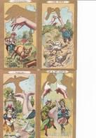 """Lot De 6 Images """"ombres Chinoises"""" - Chocolat De L'Hermitage Du Vivier- La """"TRINITÉ"""" - Schokolade"""