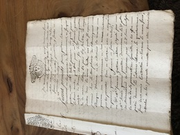 171/ Gen D Alencon 1738 Acte Notarial 10 Pages - Historische Dokumente