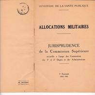 CL 6)  Livre / Allocations Militaires >  Ministère De La Santé Publique > 1940 > > (Format B 5 20 Pages) - Livres, Revues & Catalogues