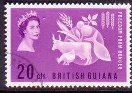 BRITISH GUIANA 1963 SG 349 20c Used Freedom From Hunger - British Guiana (...-1966)