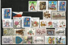 Lot De 28 Nouveaux Timbres De Tchèquie, Oblitérés, Bonne Qualité, Provenant De Mon Courrier - Oblitérés