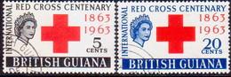BRITISH GUIANA 1963 SG 350-51 Compl.set Used Red Cross - British Guiana (...-1966)