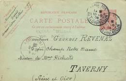 MARCOPHILIE ENTIER POSTAL FRANCE Sur CPA FANTAISIE CARTE DESSINEE - Autres