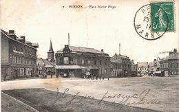 Carte POSTALE Ancienne De HIRSON - Place Victor HUGO - Hirson
