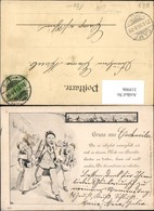 319906,Künstler Ak Ansichtskartenverkäufer Postwesen Post Postkarten - Post & Briefboten