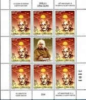 Yugoslavia 2004  125 Years Anniversary Of The Birth Of Albert Einstein Scientist Physics Nobel Prize Mini Sheet MNH - Albert Einstein