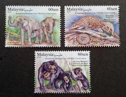 Malaysia Wildlife Conservation 2019 Bear Elephant Wild Animals Fauna (stamp) MNH - Malaysia (1964-...)