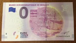MONACO MUSÉE OCÉANOGRAPHIQUE NAVIRE MARINE BILLET 0 EURO SOUVENIR 2019 BANKNOTE 0 EURO SCHEIN PAPER MONEY - Monaco