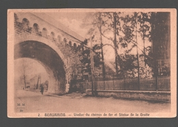 Beauraing - Viaduc Du Chemin De Fer Et Statue De La Grotte - Beauraing