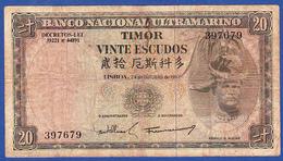 Timor - 20 Escudos, 1967 - Timor