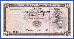 Timor - 500 Escudos, 1963 - Timor