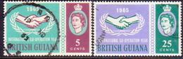 BRITISH GUIANA 1965 SG 372-73 Compl.set Used Int.Co-operation Year - British Guiana (...-1966)