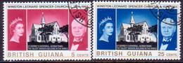 BRITISH GUIANA 1966 SG 374-75 Compl.set Used Churchill Commemoration - British Guiana (...-1966)