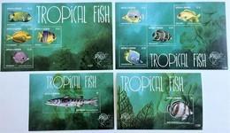 # Antigua&Barbuda 2011**Mi.4968-77 Tropical Fishes, MNH [16;54-55] - Peces