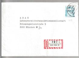 H 224) BRD 2 Belege Mi# 1142 R Mit Nr. 260 Bzw. 425 Auf Einschreiben: 5000 Köln 19 Bzw 30 - [7] République Fédérale