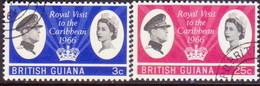 BRITISH GUIANA 1966 SG 376-77 Compl.set Used Royal Visit - Brits-Guiana (...-1966)
