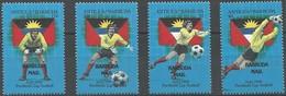 1989 Barbuda FIFA World Cup In Italy Set And Souvenir Sheets (** / MNH / UMM) - 1990 – Italien