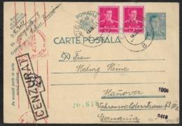 Romania CISNADIE 1941 Postal Stationery  > OKW ZENSUR (Wien) Germany (censored Lettre Brief Roumanie WW2 1939-45 - 2. Weltkrieg (Briefe)