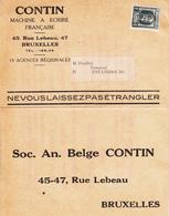 Belgique    Double Carte Avec Pub 1926   Voir Le  2 Scan - 1922-1927 Houyoux