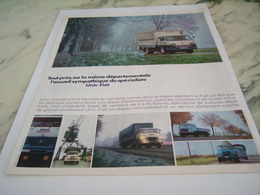 ANCIENNE PUBLICITE  CAMION UNIC FIAT 1968 - Trucks
