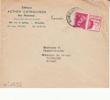 Belgique   Envlp     Timbre Avec Pub - 1934-1935 Leopold III