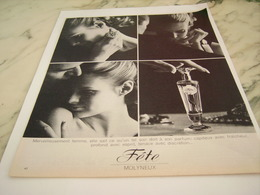 ANCIENNE  PUBLICITE PARFUM FETE DE MOLYNEUX 1968 - Perfume & Beauty