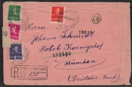 Rumänien Humorului 1944 Cover > OKW ZENSUR (Wien) Germany BAHNPOST MUNCHEN (censored Lettre Brief  WW2 - 2. Weltkrieg (Briefe)