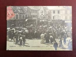 CPA (27) Eure - VERNON - Fête De L' Union Commerciale 3 Ett 4 Juin 1906 Carte Photo - Vernon