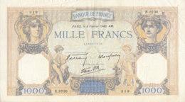 Billet 1000 F Cérès Et Mercure Du 8 Février 1940 FAY 38.42 Alph. N.8736 - 1871-1952 Circulated During XXth