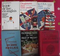 6 Livres En Anglais. Dictionnaire Ancien, Pédagogie, Tourisme (angleterre, USA). - Language Study
