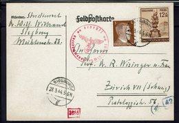Allemagne - 1944 - Affr. 3 +12+38 P. Sur Carte Postale De Siéburg Pour Zurich - Contrôle De Censure Allemand - B/TB - - Germania