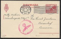 Denmark Copenhagen 1940 Postal Stationery > OKW ZENSUR (Hamburg) Germany  (censored Lettre Brief  WW2 - 1913-47 (Christian X)