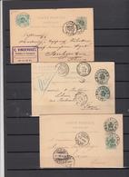 Belgique     3 EP   Timbre N° 45   5 Ct   1888/ 1889 - 1869-1888 Lying Lion