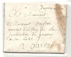 Manche - Avranches Pour Gavray. LAC De 1763 - Poststempel (Briefe)