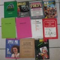 Lot De 11 Livres En Anglais. Pédagogie Toefl Bac Grammaire Glossaire Vocabulaire Méthode Structure. - Educación